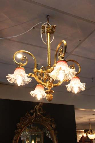 Four branch chandelier
